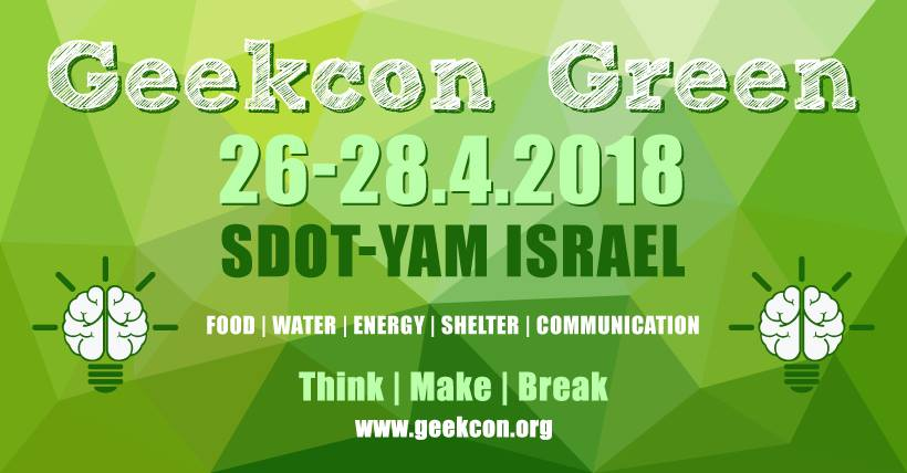 GeekCon Green 26-28 April 2018